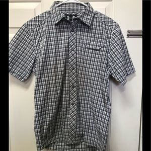 Under Armour Button Down Olive Green Plaid